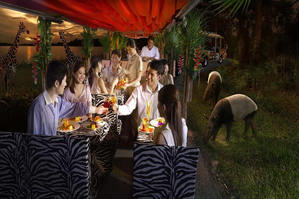Night Safari with Indian Dinner
