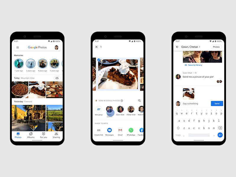 Google Photos now has a messaging feature for sharing photos