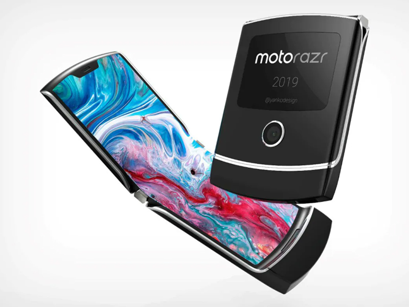 Motorola's Razr overlays into equal parts without a wrinkle
