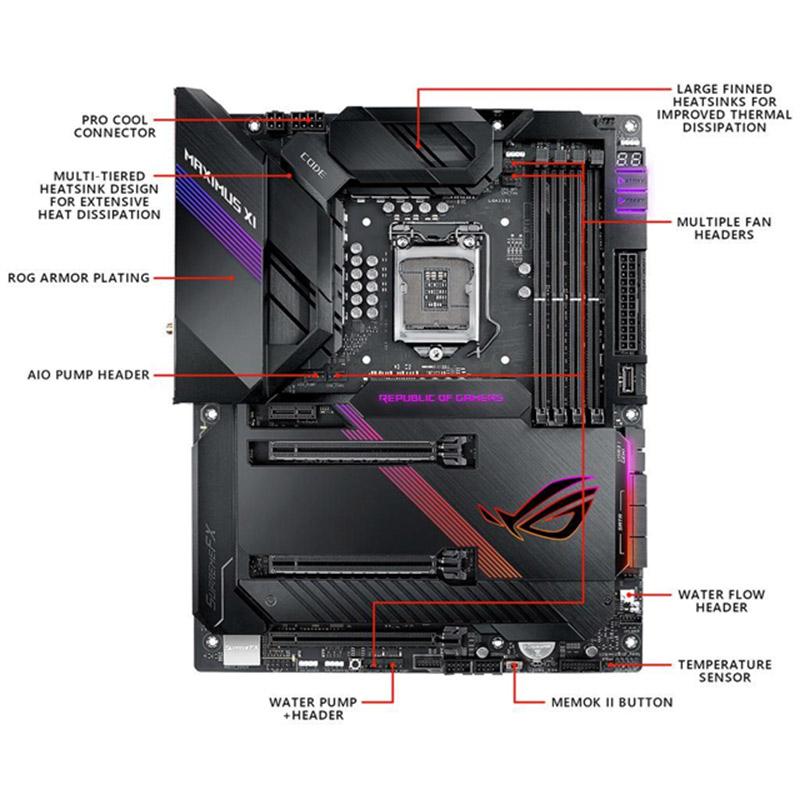 ASUS ROG MAXIMUS XI CODE Intel Z390 ATX Gaming motherboard