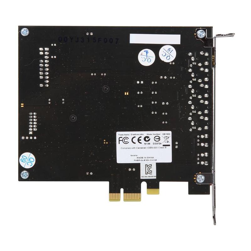 Creative Sound Blaster Z PCIe 116dB SNR Gaming Sound Card 600 ohm