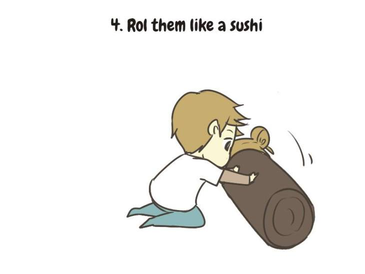 How to care for sad person sushi roll 5