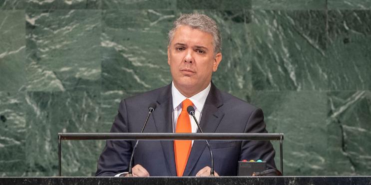Imagen de la nota 'Colombia: Las mentiras de Iván Duque ante la ONU '