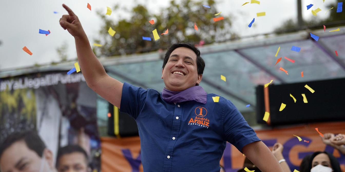 Picture principal - Ecuador: Amplia victoria de Andrés Arauz, quien deberá enfrentar segunda vuelta