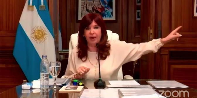 """Picture principal - CFK: """"No miren para otro lado, porque ustedes son responsables"""""""