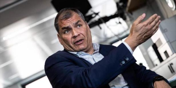 """Imagen de la nota 'Correa denunció un """"golpe"""" en Ecuador y su candidato, Arauz, pidió respetar el balotaje'"""