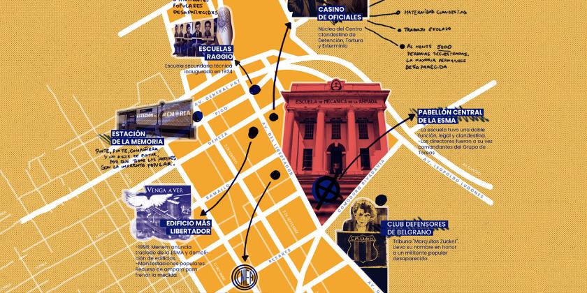 """Imagen de la nota '""""Cartografías de la Memoria"""", un recorrido audioguiado por los alrededores de la ESMA'"""
