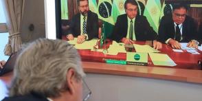 Imagen de la nota 'El Mercosur: a través de los encuentros virtuales con Bolsonaro y el asado con Lacalle Pou'