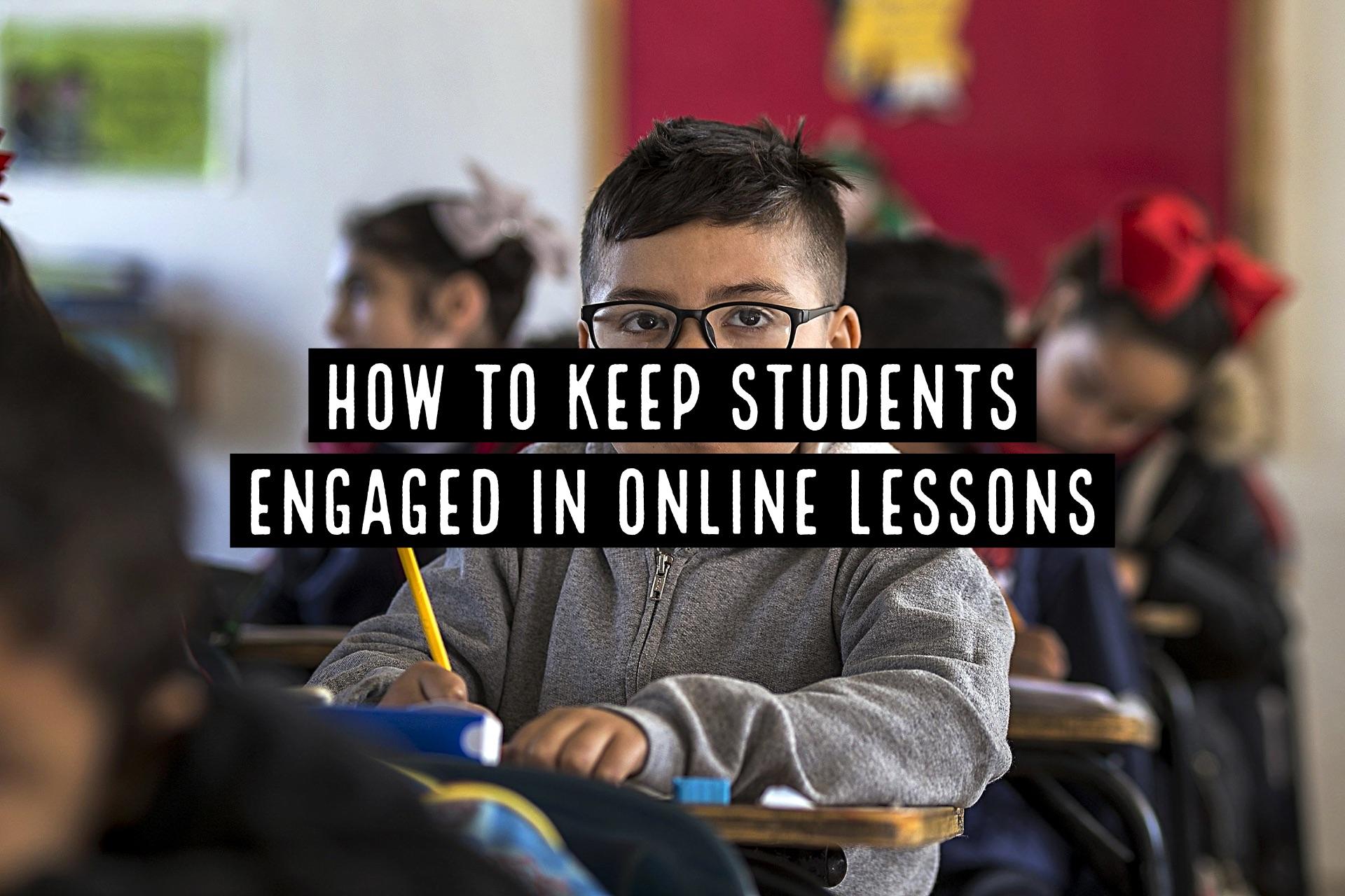 ภาพประกอบไอเดีย How to Keep Students Engaged in Online Lessons