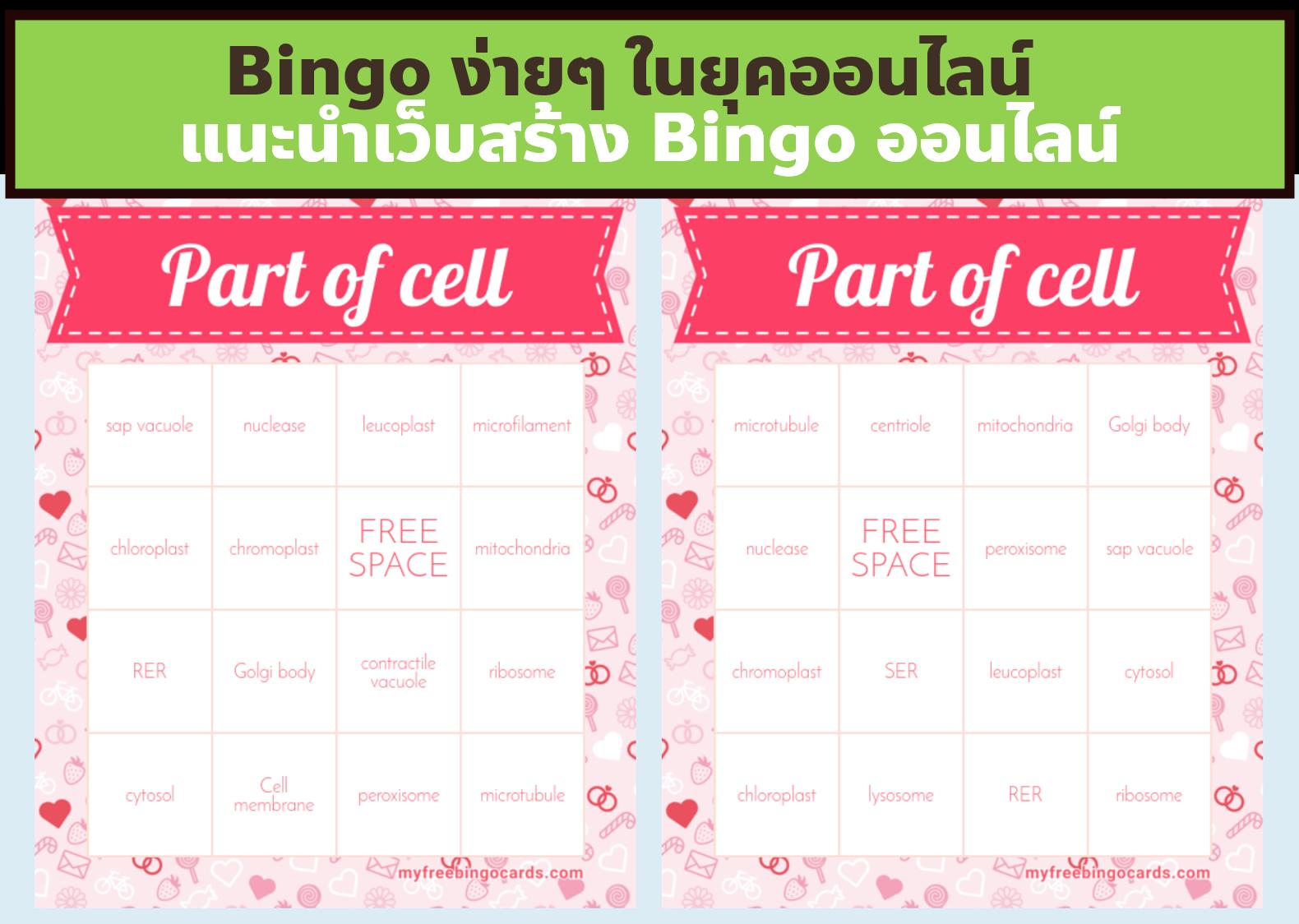 ภาพประกอบไอเดีย แนะนำเว็บสร้าง Bingo ออนไลน์ (ฟรี)