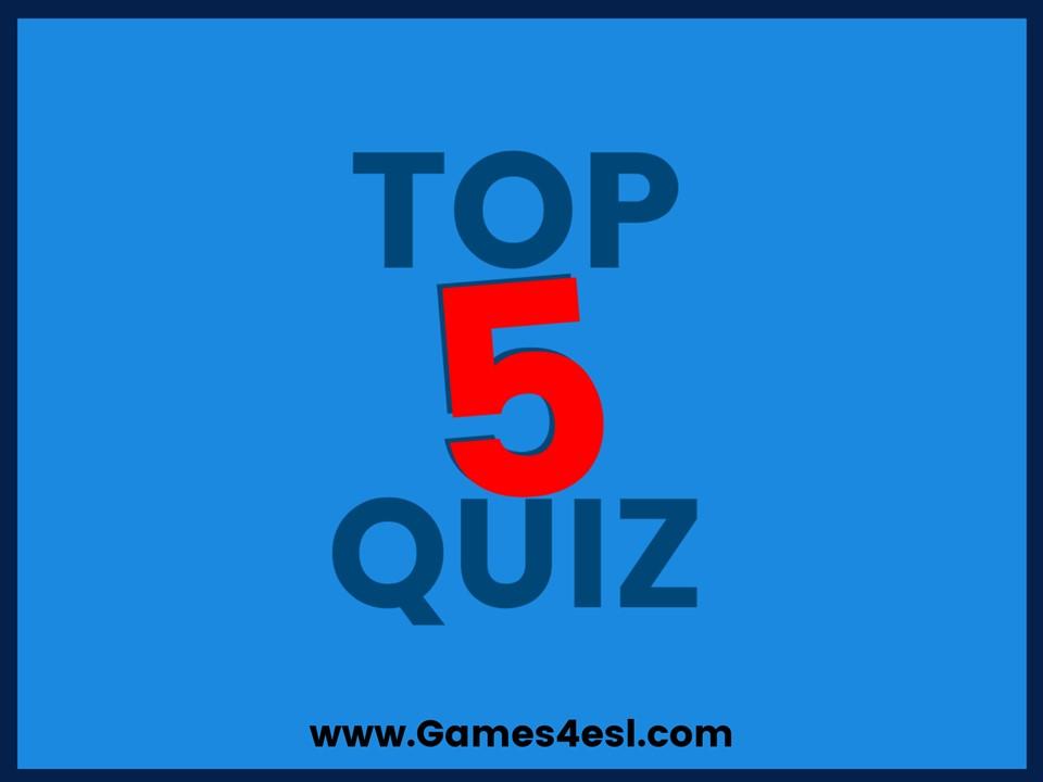 ภาพประกอบไอเดีย TOP FIVE QUIZ เกมออฟไลน์อีก 1 เกมที่น่าสนใจ