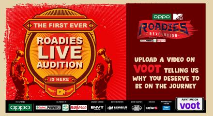 MTV Roadies Revolution Season 18 Live audition online