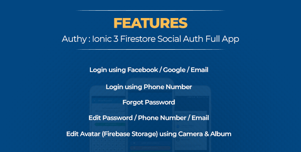 Authy - Ionic Firebase Social Authentication Full App