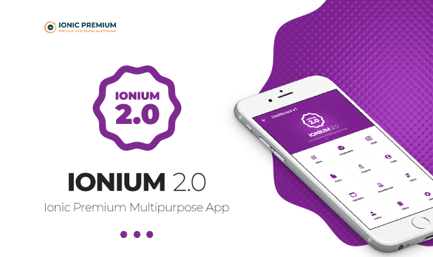 Ionium 2 - Ionic Multipurpose App for Android and iOS