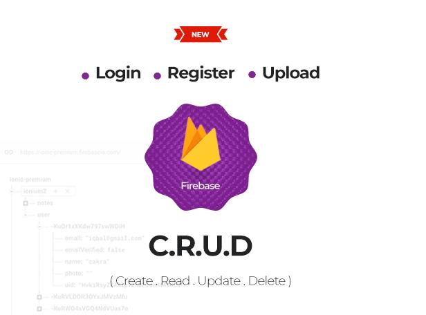 Ionic Firebase Create Read Update Delete Login Register Upload