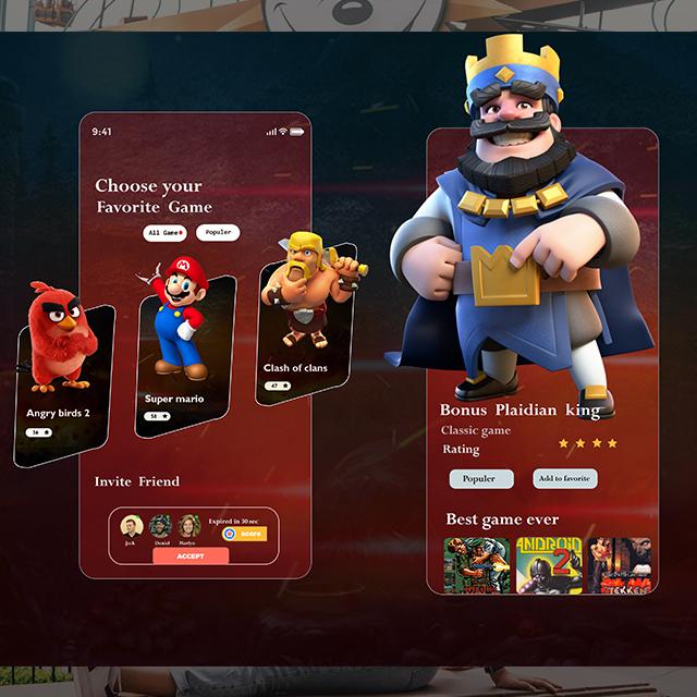 Cartoon Games Lover App UI