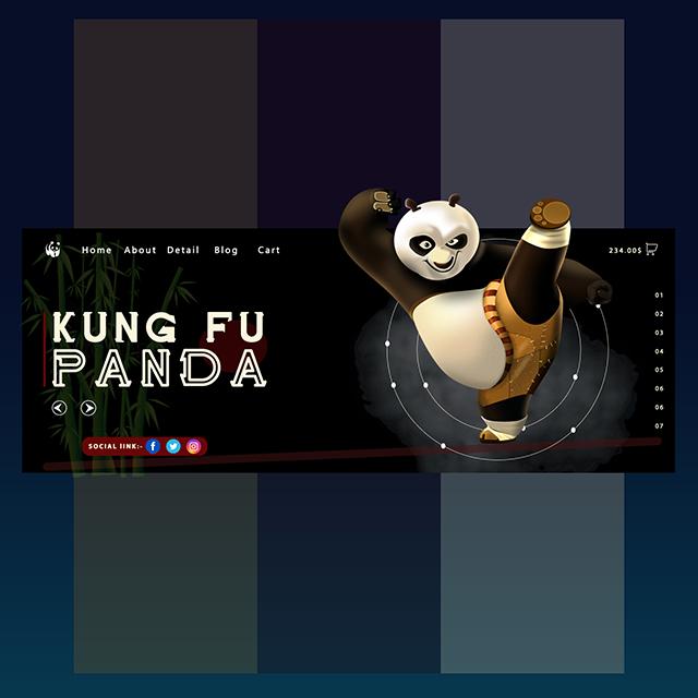 Cartoon UI Panda