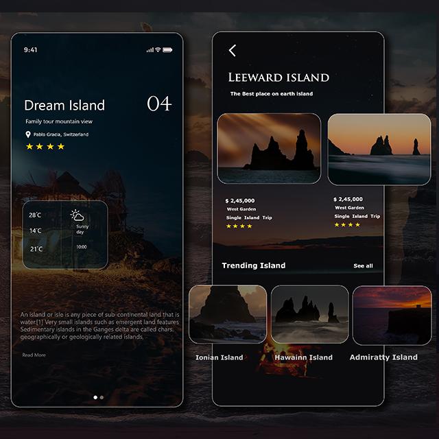 Dream Island App UI