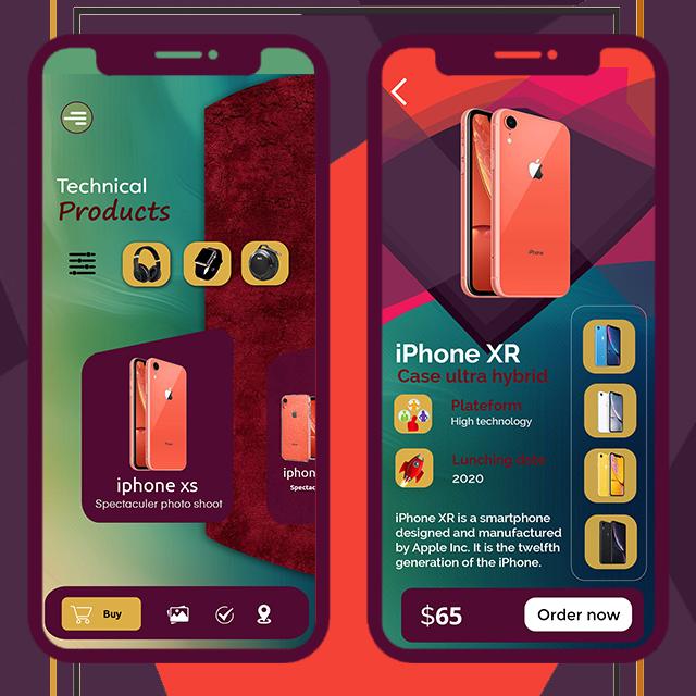 Ecommerce Store Mobile App UI
