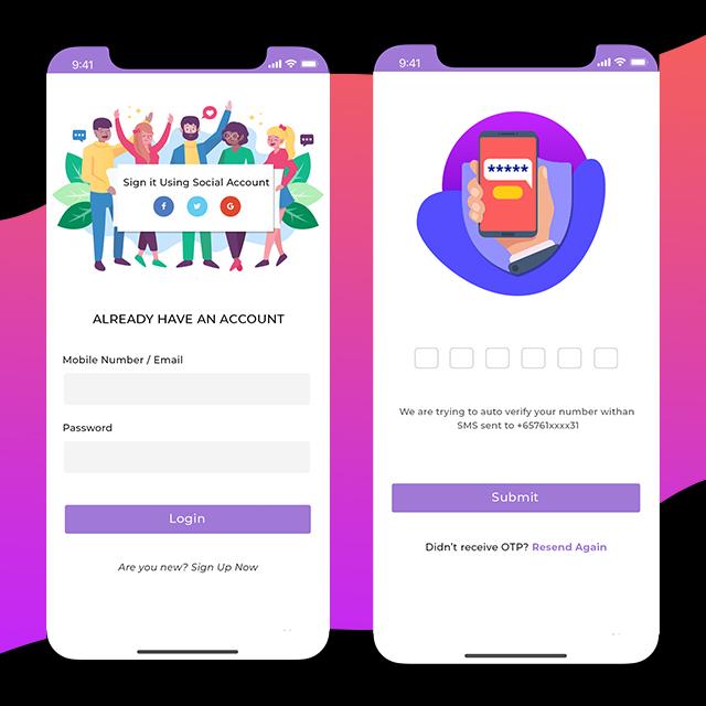 Event Mobile App UI