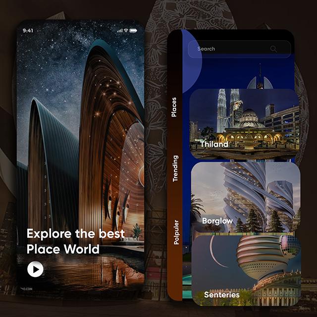 Explore World Travel Design App