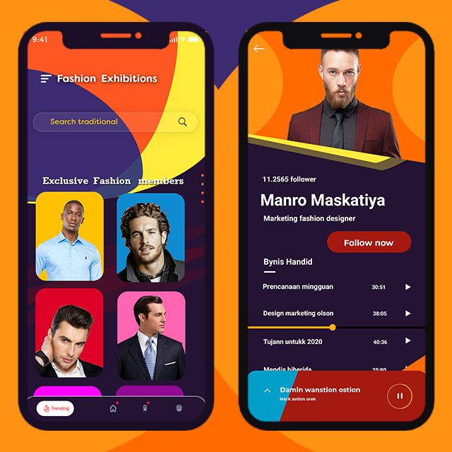 Fashion Industries App UI