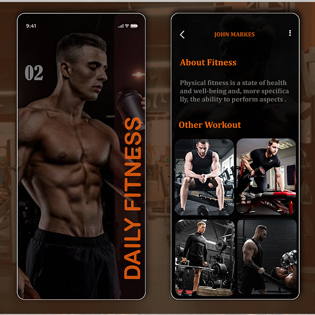 Fitness App Daily Fitness Exercise