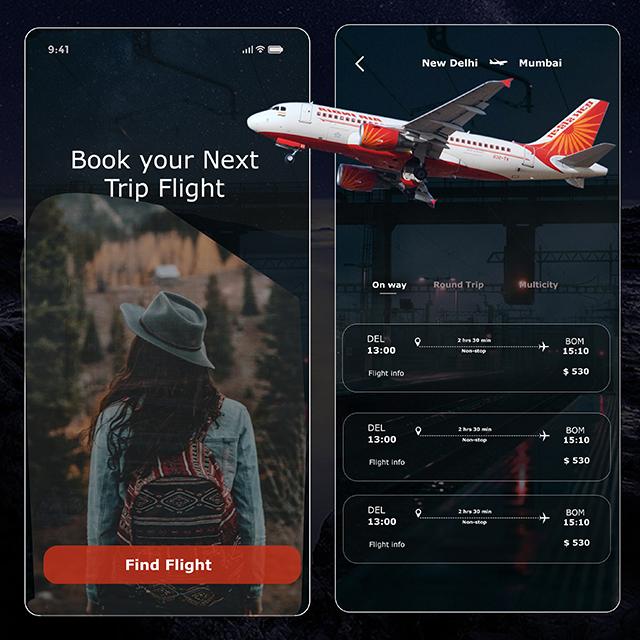 Flight Booking App UI