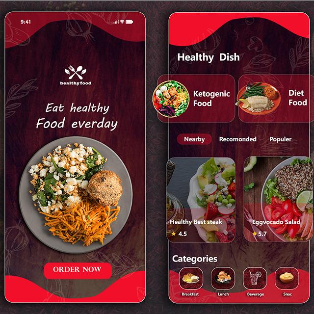 Restaurant App Healthy Food