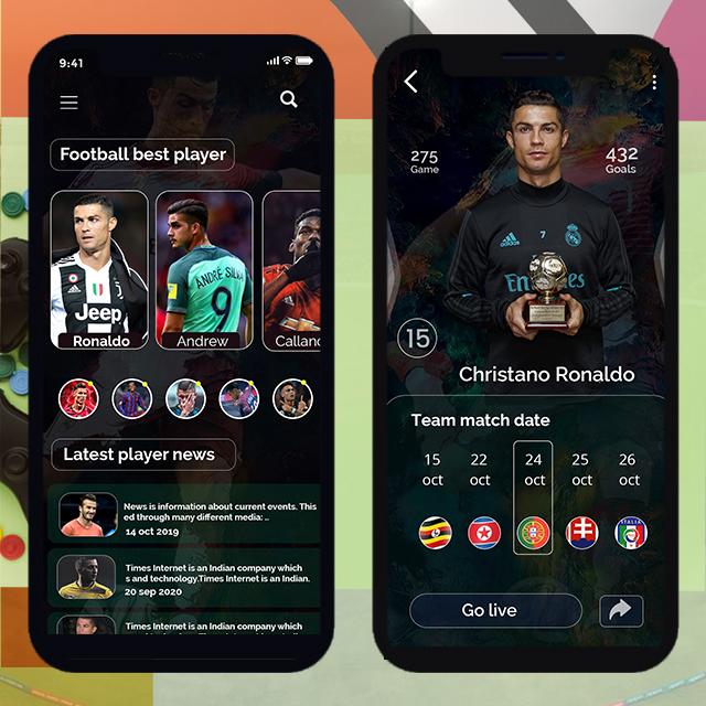 Sport App Football Mobile App UI