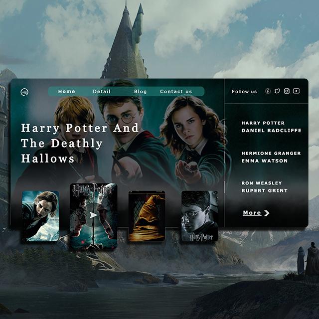Harrypotter Web UI Movie Poster