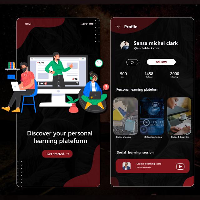 Learning Coaching App UI