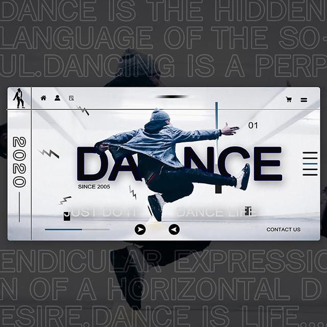 Dance Website Landing Page