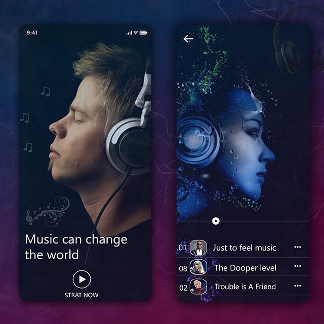 Music App Song UI