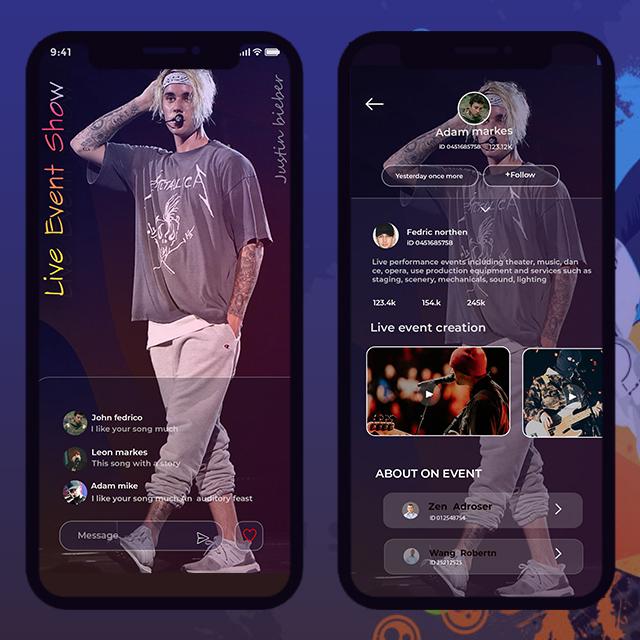 Music App Mobile App UI