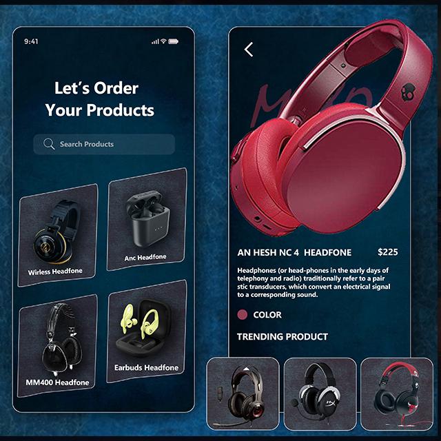 Muisc App Headphone E-Commerce