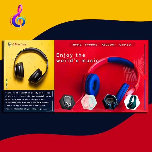 Music Web UI Headphone