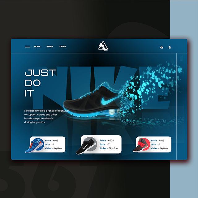 Nike Shoes Store Web UI