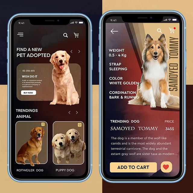 Pet Mobiel App UI