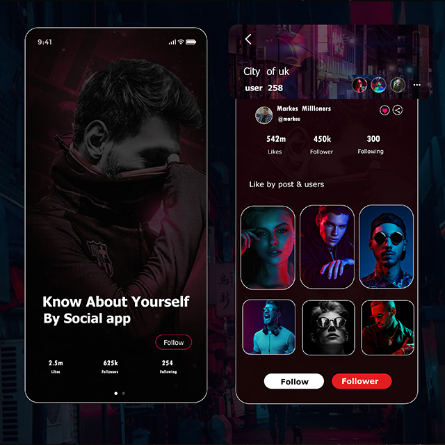 Social App Profile UI