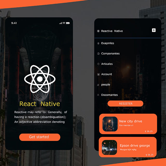 React Native Tech App UI