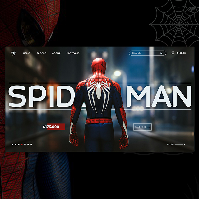 Spider Man Web UI