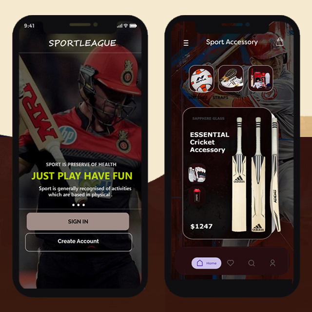 Sports Academy Mobile App UI
