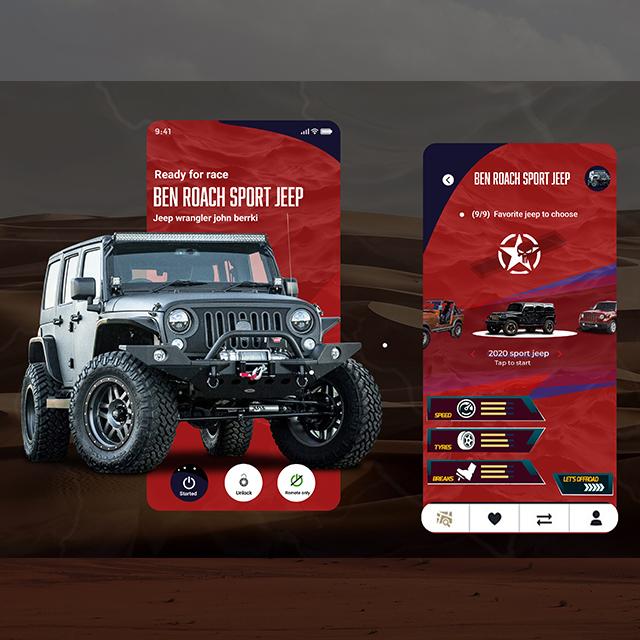 Jeep Lover App UI
