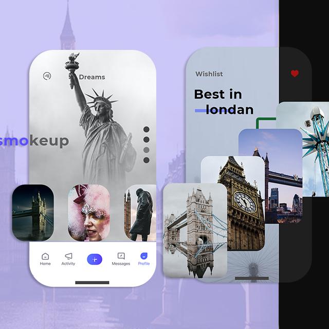 Travel App London Mobile App UI