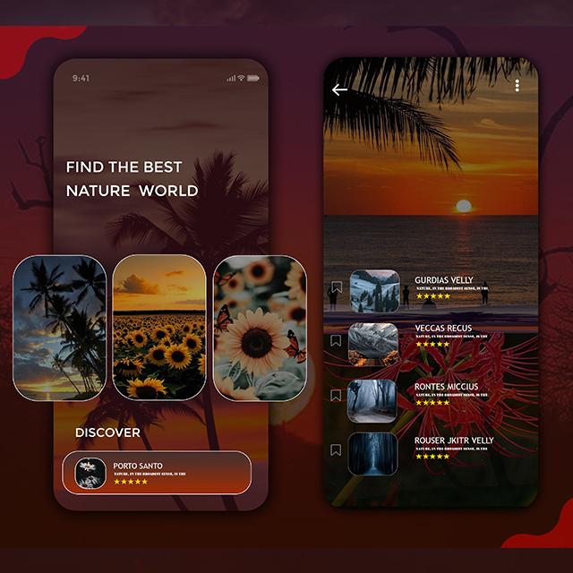 Trip Destination App UI