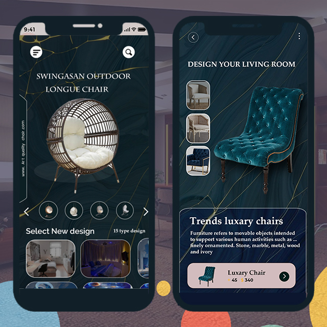 Ecommerce Chair Mobile App UI