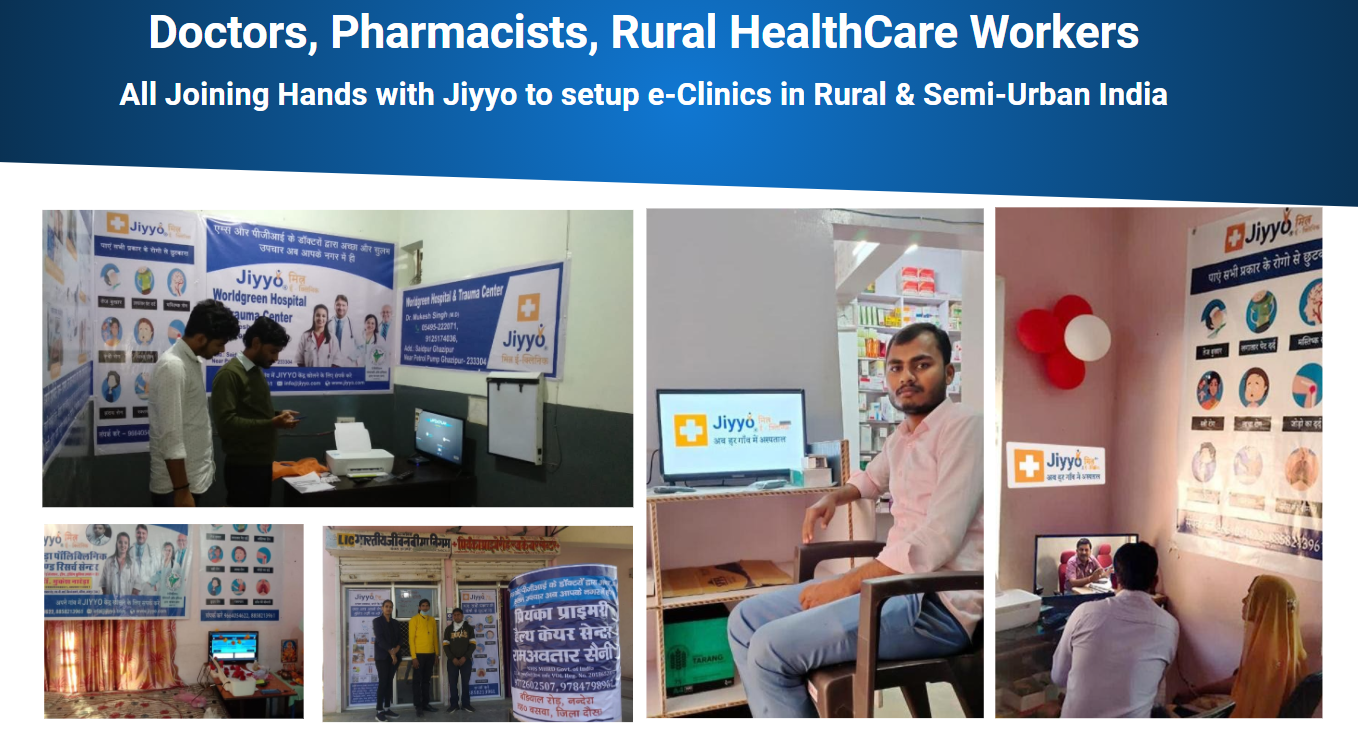 Jiyyo Mitra E-Clinic : Setting a landmark in rural healthcare via telemedicine