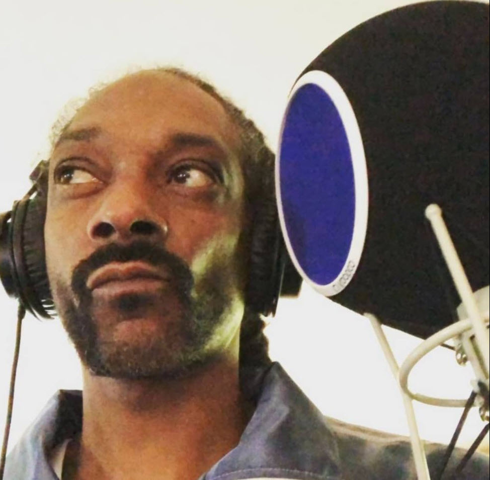 Snoop Dog in his LA Studio learning how to record