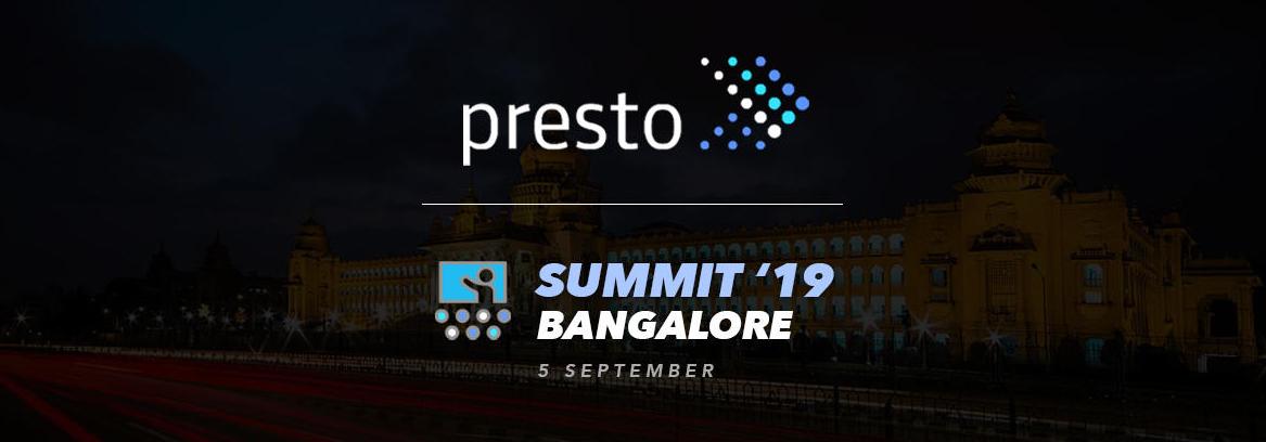 Presto Summit India 2019
